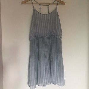 Armani Exchange blue and white flowy dress